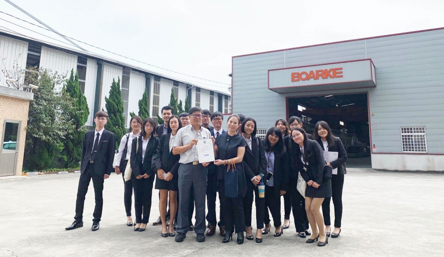 National Chiayi University visited our company
